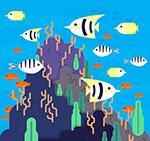 创意海底多样鱼类