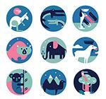 抽象野生动物图标