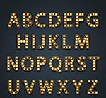 金色霓虹灯字母