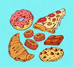 彩绘美味零食
