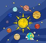 彩绘太阳系行星