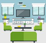 扁平化客厅设计