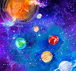 彩绘太阳系风景