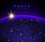 夜晚太空中的地球