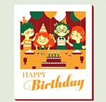 儿童生日快乐祝福卡