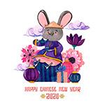 彩绘老鼠花卉