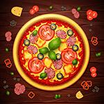 创意美味披萨