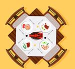 摆满菜肴的餐桌