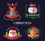 扁平化圣诞节标签
