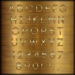 金色字母和数字