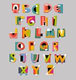 彩色纸质字母