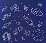手绘太空元素