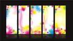 幻彩花纹展板