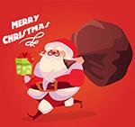 手拿礼物的圣诞老人