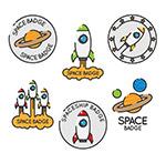 创意太空元素徽章