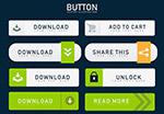 绿色网络购物按钮