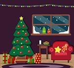 创意圣诞节客厅