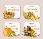 彩绘感恩节卡片
