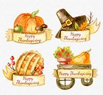 彩绘感恩节标签