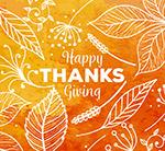 抽象感恩节树叶
