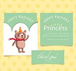 可爱熊生日邀请卡