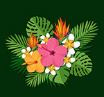 扁平化热带花束
