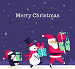 怀抱礼物的圣诞角色