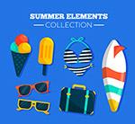 彩色夏季度假图标