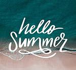 大海夏季艺术字