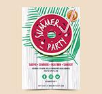 西瓜夏季派对传单