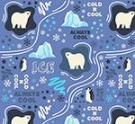 北极熊和企鹅背景