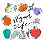 手绘蔬菜素食框架