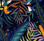 美丽热带花鸟背景