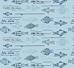手绘鱼类无缝背景