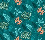 珊瑚无缝背景