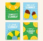 4款彩色夏季卡片