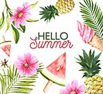 夏季花草和食物