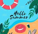 大海夏季艺术字设计