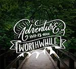 树林风景探险艺术字