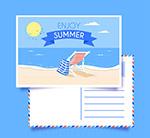 夏季大海明信片
