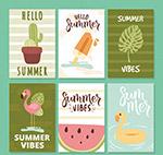 手绘夏季元素卡片