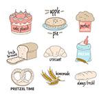 彩色面包标签