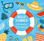 夏季度假游泳圈