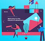 抽象网站设计插画
