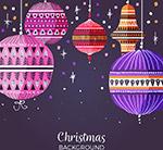 圣诞节花纹吊球