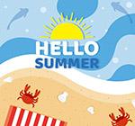 夏季沙滩矢量