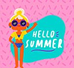 女子夏季艺术字