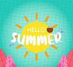 太阳夏季艺术字