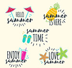 彩色夏季艺术字