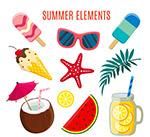 夏季度假元素